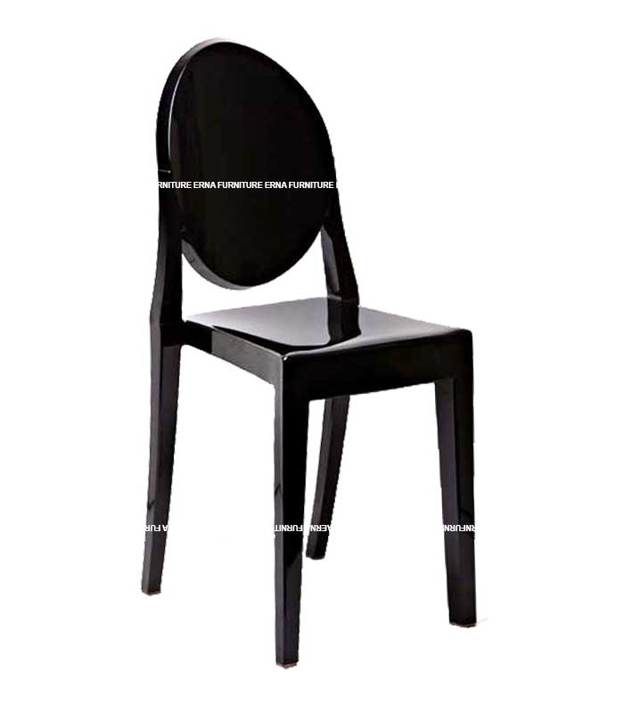 Ghost Victoria Style Transparent Dining Chair - Stackable (4)