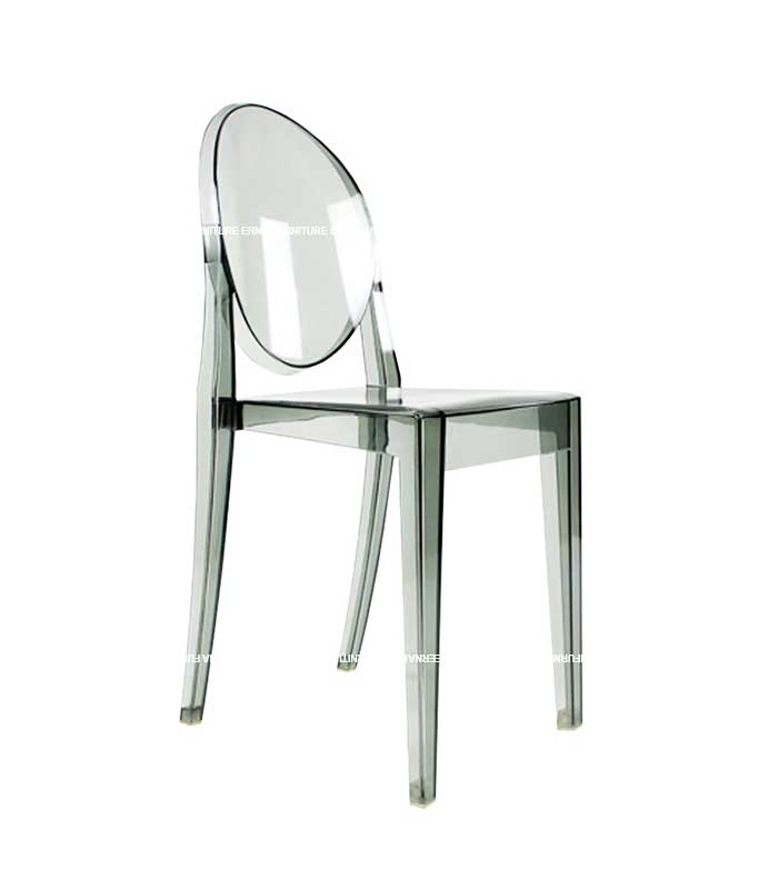 Ghost Victoria Style Transparent Dining Chair - Stackable (5)
