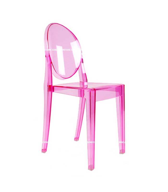 Ghost Victoria Style Transparent Dining Chair - Stackable (6)